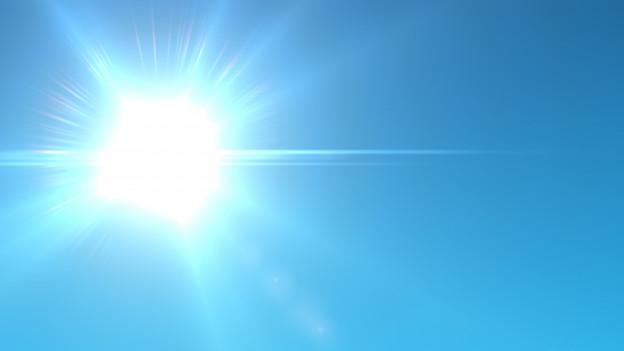 Die Sonne am Himmel.