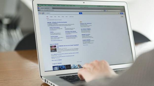 Mensch vor Computer-Bildschirm.
