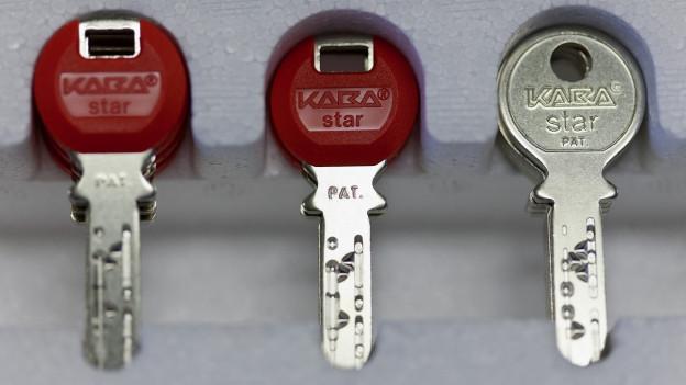 Drei Schlüssel