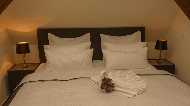 Hotelbett.