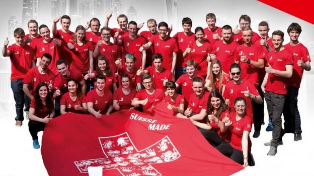 Die Schweizer Mannschaft im Porträtbild.