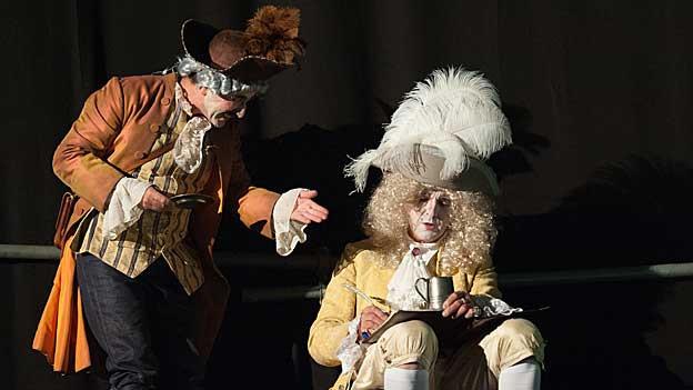 Links: Diener Staller, gespielt von Beat Ruhstaller, rechts: Casanova, gespielt von Zeno Schneider