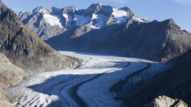 Die Alpen mit ihren Gletschern sind vom Klimawandel besonders betroffen.