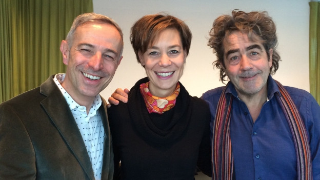 Die «Persönlich»-Gäste von Dani Fohrler: Anette Köchli und Thomas Leuenberger.
