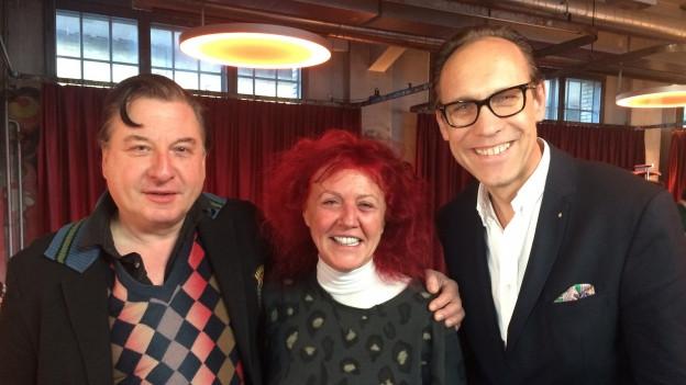 Beat Schlatter und Heliane Canepa zu Gast bei Christian Zeugin