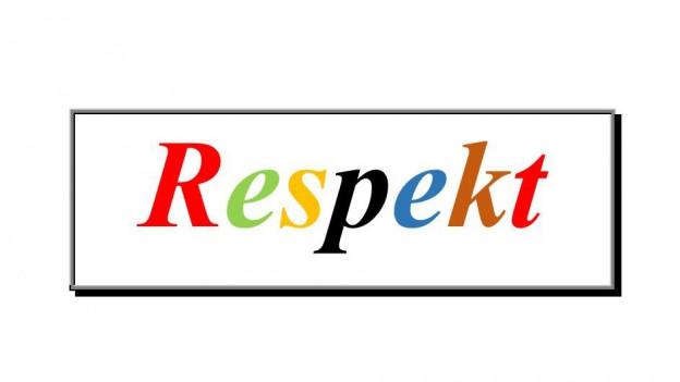 Das Wort Respekt, die Buchstaben in verschiedenen Farben.