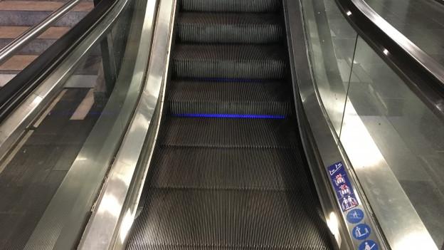 Eine Rolltreppe im HB Zürich.