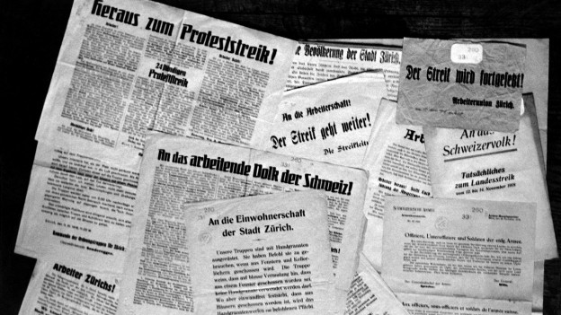 Zeitungsausschnitte von 1918