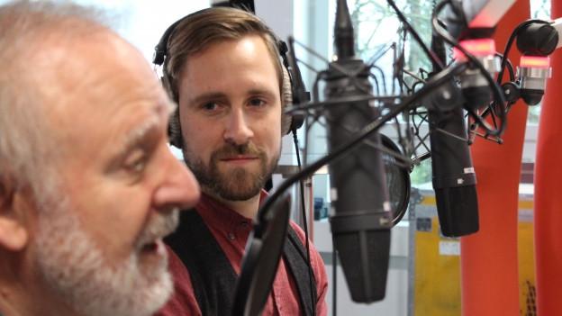 Peter Reber und Kunz live bei Radio SRF 1.