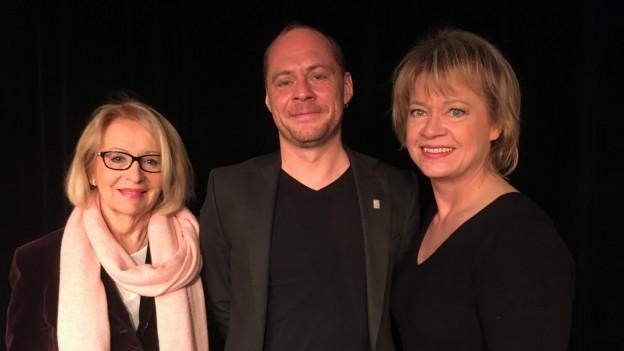 Die Gäste von Daniela Lager (r): Mirjam Ginsberg und Walter Salzburger