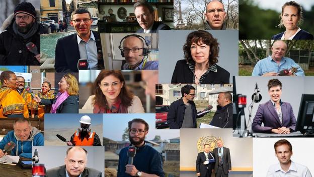 Bilder von Korrespondentinnen und Korrespondenten.