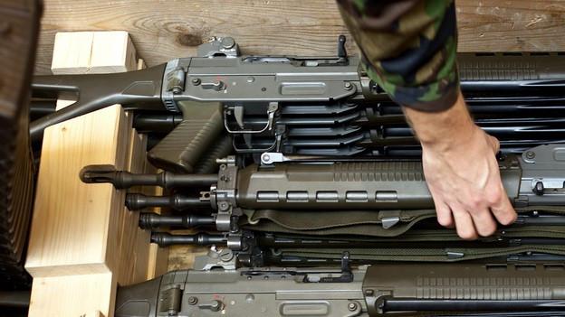 Viele Sportschützen schiessen mit dem Sturmgewehr.