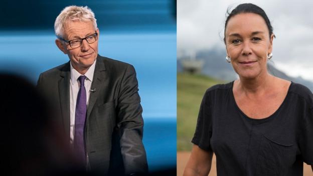 «Persönlich»-Gäste in Bern: Hanspeter Trütsch und Livia Anne Richard.