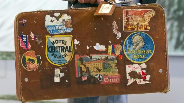 Der alte Reisekoffer von Alberto Giacometti.
