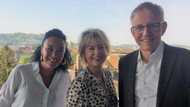 Livia Anne Richard, Daniela Lager und Hanspeter Trütsch