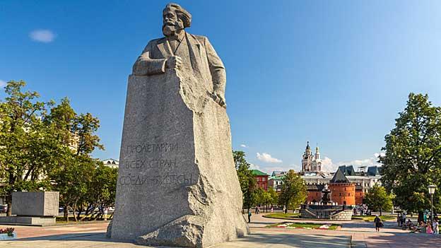 Karl Marx Denkmal in Moskau