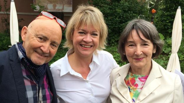 Felix Mühleisen, Daniela Lager und Rosmarie Schneider