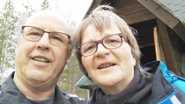Guido Honegger mit seiner Frau Irja-Liisa in Kalajoki.