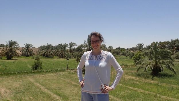Juliette Kaltenrieder vor ihrem Land