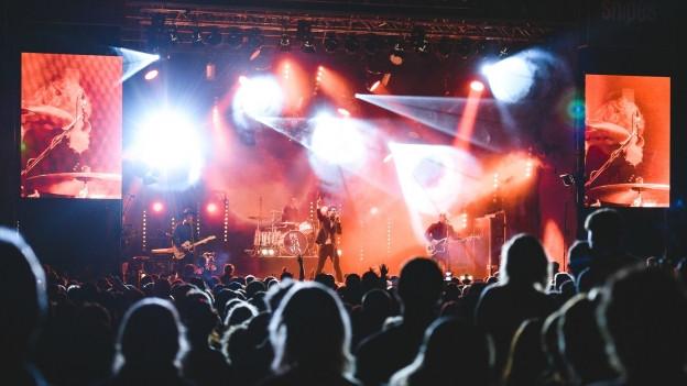 Ein Openair Festival bei Nacht