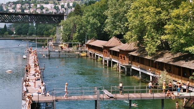 Badeanstalt Unterer Letten in Zürich