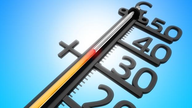 Grafik eines Thermometers mit über 30 Grad