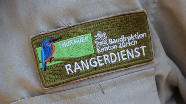Abzeichen auf dem Hemd eines Rangers.
