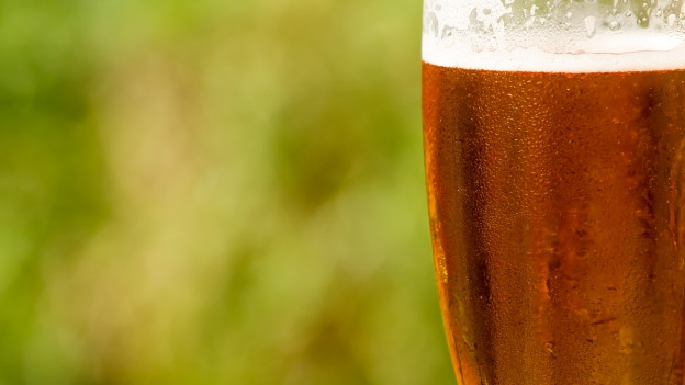 Bier mit Schaum in einem Glast.
