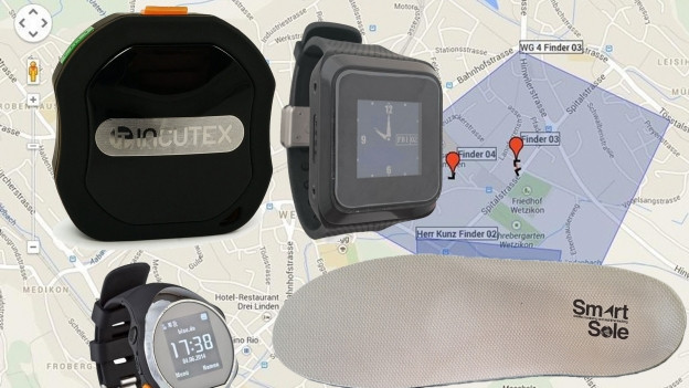 Bildcollage mit veschiedenen Tracking-Geräten.