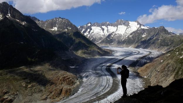 Der Aletschgletscher gehört zu den grössten Wildnis-Gebieten in der Schweiz.