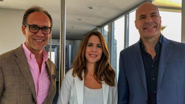 Susanne Wille und Thomas Amstutz (r) mit «Persönlich»-Gastgeber Christian Zeugin