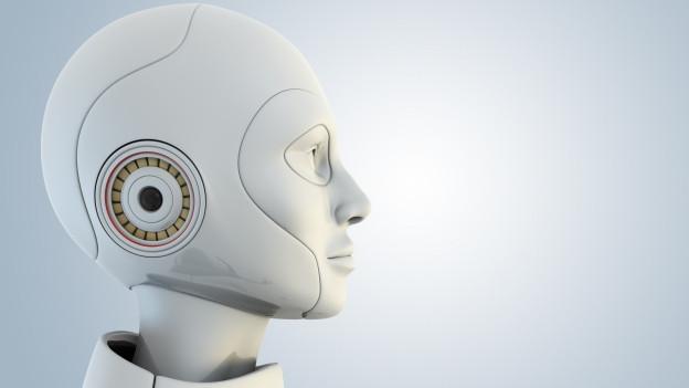 Seitenprofil eines menschlichen Roboters