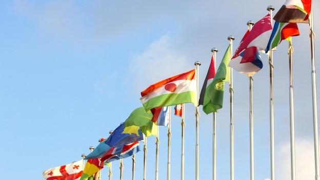 Die Flaggen der Europäischen Länder