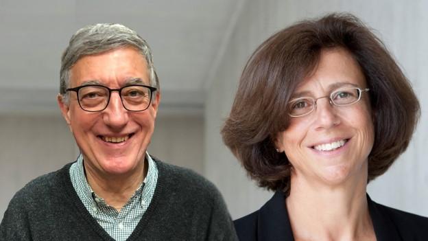 Audio «Der Ex-Brigadier Marcel Fantoni und die Physikerin Ursula Keller» abspielen.