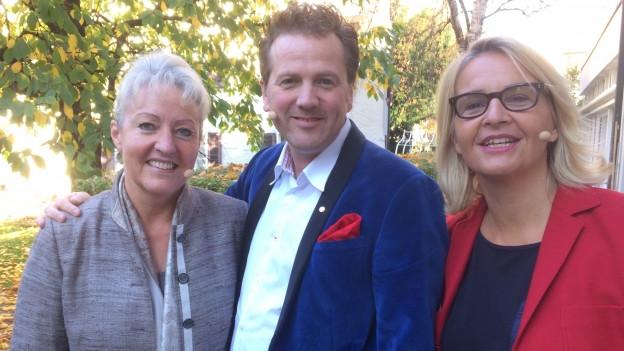 «Persönlich»-Gäste: Barbara Janom Steiner und Christian Jott Jenny bei Sonja Hasler.