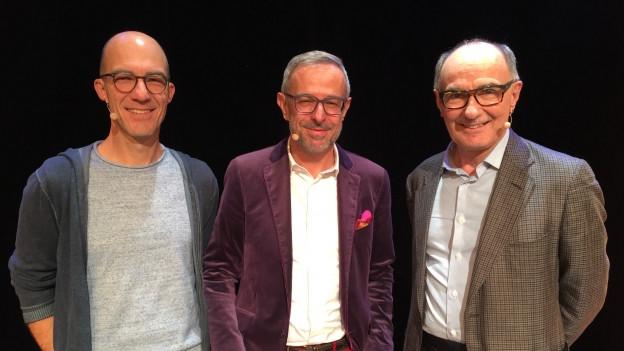 Andrew Bond (l) und Felix Gutzwiller (r) zu Gast bei Dani Fohrler