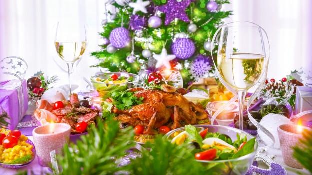 Festtafel an Weihnachten
