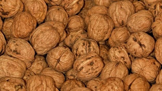 Bildlegende: Baumnüsse bleiben oft vom Klaussäckli übrig, da man sie ohne Nussknacker nicht gut öffnen kann.