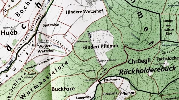 Ausschnitt Karte zum Flurnamenbuch: Schleitheim