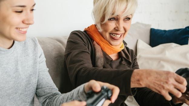 Man ist nie zu alt, um mit Gamen anzufangen