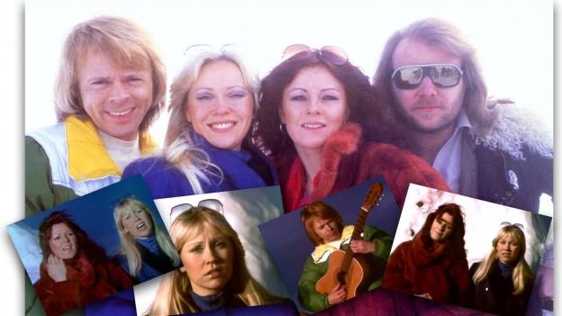 ABBA drehen Musikvideo zu Chiquitita in den Schweizeralpen