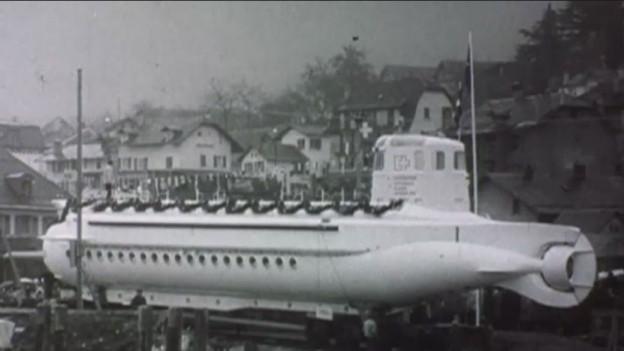 Unterwasserboot für die Expo 1964.