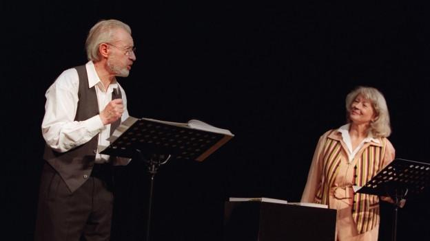 Das Kabarettenpaar Ces Keiser und Margrith Läubli waren Meister des Limerick.
