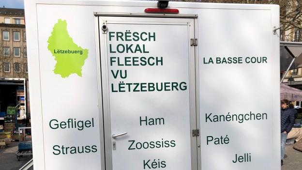 Lastwagen-Beschriftung in Luxemburg