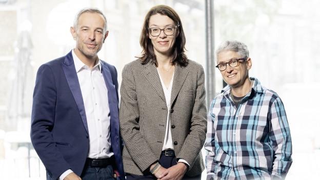 Nathalie Wappler und Salome Zimmermann (r) zu Gast bei Dani Fohrler in der Sendung Persönlich