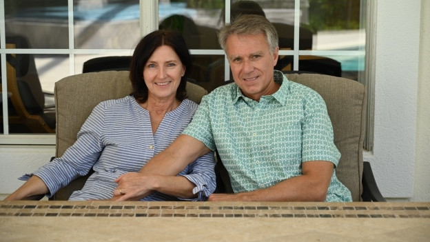 Norwin Voegeli mit seiner Frau Andrea.