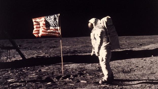 Mann auf dem Mond