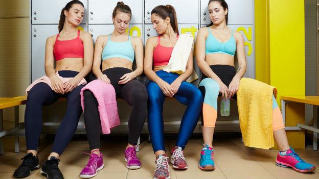 Frauen nach dem Sport.