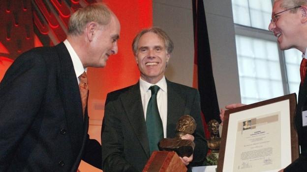 Bundesrat Moritz Leuenberger erhält den Cicero - Preis