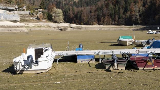 Blick auf den ausgetrockneten Lac des Brenets